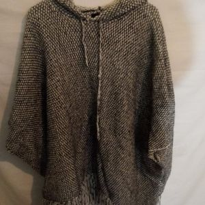 Forever 21 Poncho with Hoodie M/L